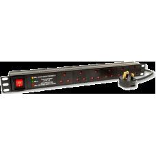 """19"""" Rackmount 1U 6 Way Surge Protected Power bar"""