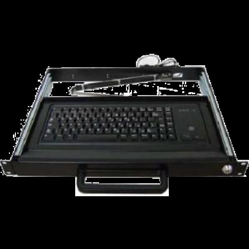 Liymo 1U Rackmount drawer - with trackball keyboard
