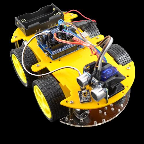 Bluetooth Multi Function Intelligent Smart Car Kit For Arduino Robot