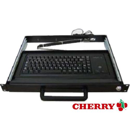 Cherry 1U Rackmount drawer - with trackball keyboard