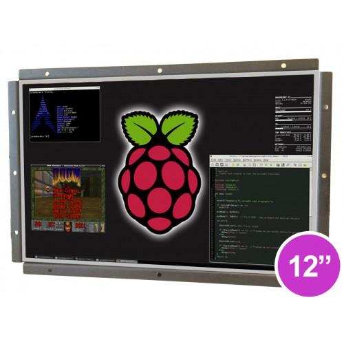 "Raspberry Pi Based 12"" Open Frame Touchscreen Panel PC"