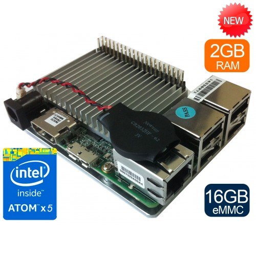 UP board 2GB + 16 GB eMMC memory with Intel Atom x5 processor