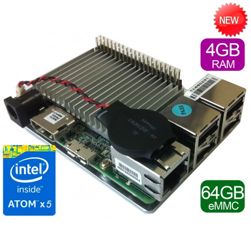 UP board 4GB + 64GB eMMC memory with Intel Atom x5 processor
